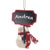 Regency International Snowman with Chalkboard Ornament