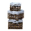Quickway Imports Maize 3 Piece Lined Storage Basket Set