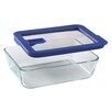 Pyrex No Leak Lids 6-Cup Rectangular Storage Dish