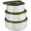 Corelle Corelle Coordinates 3 Piece Storage Bowl Set in Green