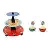 Mason Cash 3 Piece Pirate Cupcake and Toppers with Cake Stand Set
