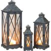 Transpac Imports, Inc 3 Piece Lost and Found Metal Lantern Set