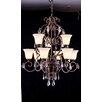 Elegant Lighting Troy 9 Light Crystal Chandelier