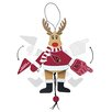 Topperscot NFL Wooden Cheering Reindeer Ornament