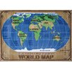 Fun Rugs Supreme World Map Kids Rug