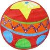 Fun Rugs Fun Shape High Pile Circus Ball Red Area Rug