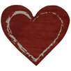 Fun Rugs Fun Time Heart Red Area Rug