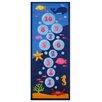 Fun Rugs Fun Time Underwater Hopscotch Blue Area Rug