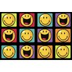 Fun Rugs Smiley World Happy and Smiling Yellow Area Rug