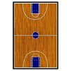 Fun Rugs Supreme Basketball Court Sports Brown Area Rug