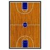 Fun Rugs Supreme Basketball Court Sports Brown Area Rug