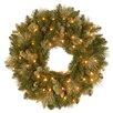 """National Tree Co. Pre-Lit 24"""" Carolina Pine Wreath"""