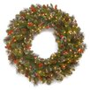 National Tree Co. Crestwood Spruce Pre-Lit Wreath with 50 Battery-Operated White LED Lights