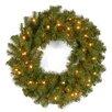 National Tree Co. Kincaid Spruce Pre-Lit Wreath with 50 Lights