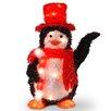 National Tree Co. Decorative Décor Pre-Lit Penguin with Candy Cane Christmas Decoration