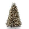 National Tree Co. Dunhill Blue Fir 7.5' Hinged Green Artificial Christmas Tree with 750 Clear Lights