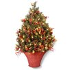 National Tree Co. Classical 3' Half Artificial Christmas Tree with 100 Clear Lights