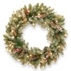National Tree Co. Dunhill Fir Wreath with 50 Clear Lights