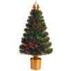 "National Tree Co. Fiber Optics Evergreen Firework 2"" 8"" Multicolor Artificial Christmas Tree with Multicolor Light"