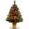 """National Tree Co. Fiber Optics 4"""" Green Artificial Christmas Tree with LED Multi Light and Stand"""