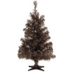 National Tree Co. Tinsel Trees 2' Black Tinsel Artificial Christmas Tree with Plastic Stand
