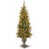 National Tree Co. 4' Green Pine Artificial Christmas Tree with 100 Incandescent Colored and Clear Lights with Stand