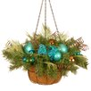 National Tree Co. Decorative Peacock Hanging Basket