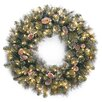 """National Tree Co. Glittery 30"""" Lighted Pine Wreath"""