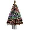 National Tree Co. Fiber Optics 4' Artificial Christmas Tree LED Lights with Base