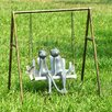 SPI Home Frogs on Porch Swing Garden Statue