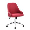 Boss Office Products Carnegie Mid-Back Desk Chair in Red