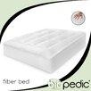 BioPEDIC Baffled 100% Cotton Fiber Bed with Bonus Pillows