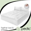 BioPEDIC 100% Cotton Feather Bed with Bonus Pillow