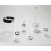 Carnation Home Fashions Clear Acrylic Bath Accessories with Chrome Trim Collection