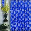 Carnation Home Fashions Snow Flakes Fabric Holiday Shower Curtain