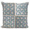 Mina Victory Dallas Laser Squares Leather Throw Pillow