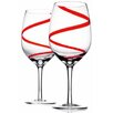 Home Essentials and Beyond 2 Piece Swirl All Purpose Wine Glass Set (Set of 2)