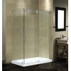 """Aston 48"""" x 35"""" x 77.5"""" Completely Frameless Sliding Shower Door Enclosure with Low-Profile Base"""