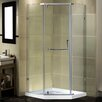 "Aston 38"" x 38"" x 77.5"" Semi-Frameless Neo-Angle Shower Enclosure with Low-Profile Base"