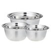 Cook Pro 3 Piece Stainless Steel Mixing Bowl Set
