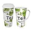 Konitz Tea Collage Mega Coffee To Stay/Go Mugs 2 Piece Set