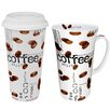 Konitz Coffee Collage Mega Coffee To Stay/Go Mugs 2 Piece Set