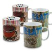Konitz Fresh Brew Latte and Coffee 15 oz. Mugs 4 Piece Set