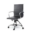 Winport Industries Mid-Back Leather Swivel Conference Chair