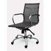 Winport Industries Mid-Back Mesh Synthetic Eco-Leather Conference Chair