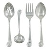 Ginkgo Stainless Steel Sanibel Surf 4 Piece Hostess Set