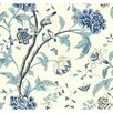 "York Wallcoverings Carey Lind Vibe Teahouse Floral Removable 33' x 20.5"" Wallpaper"