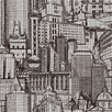 """York Wallcoverings Risky Business Great Expectations 27' x 27"""" Scenic Distressed Wallpaper"""