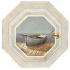 York Wallcoverings Mural Portfolio II Trompe L'Oiel Shoreline Boat Hexagonal Wall Mural