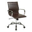 Office Star Products Thick Padded High-Back Office Chair with Built-In Lumbar Support